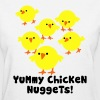 White Chicken Nuggets Women's T-Shirts - Women's T-Shirt