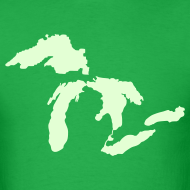 Design ~ Just Michigan Glow in the Dark Men's Standard Weight T-Shirt