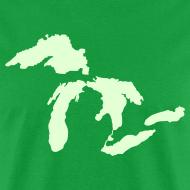 Design ~ Just Michigan Glow in the Dark Men's Standard Weight T-Shirt