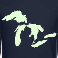 Design ~ Just Michigan Glow in the Dark Men's Crewneck Sweatshirt