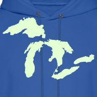 Design ~ Just Michigan Glow in the Dark Men's Hooded Sweatshirt