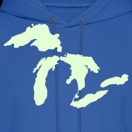 Design ~ Just Michigan Glow in the Dark Men's Hooded Sweatshirt