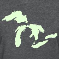 Design ~ Just Michigan Glow in the Dark Women's Standard Weight T-Shirt