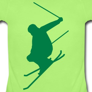 Mint green Ski jump B Baby Body - Baby Short Sleeve One Piece