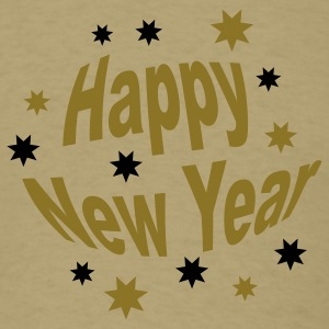 Khaki happy_new_year T-Shirts - Men's T-Shirt