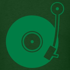 Forest green Vinyl Turntable T-Shirts