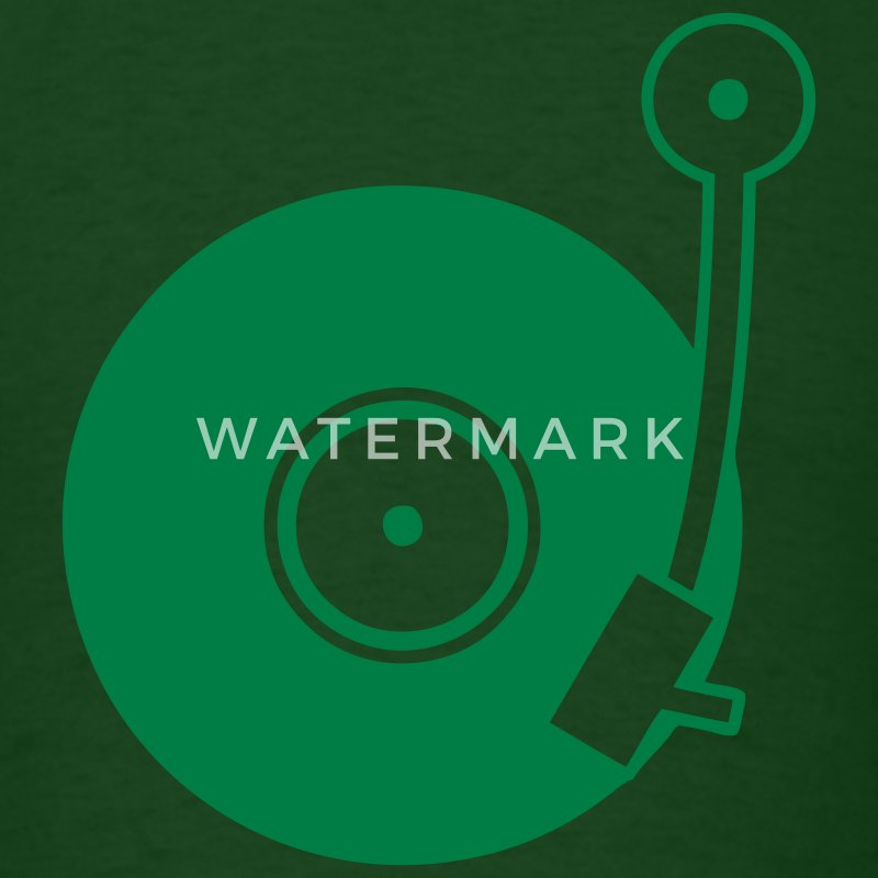 Forest green Vinyl Turntable T-Shirts - Men's T-Shirt