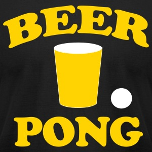 Black Beer Pong T-Shirts - Men's T-Shirt by American Apparel