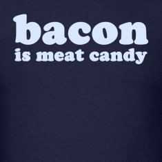 Navy baconmeatcandy_lightblue T-Shirts