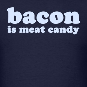 Navy baconmeatcandy_lightblue T-Shirts - Men's T-Shirt