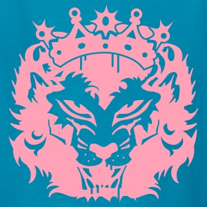 Classic pink The lion's head with crown Kids' Shirts - Kids' T-Shirt