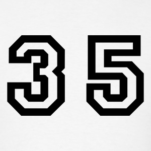 White Number - 35 - Thirty Five T-Shirts - Men's T-Shirt