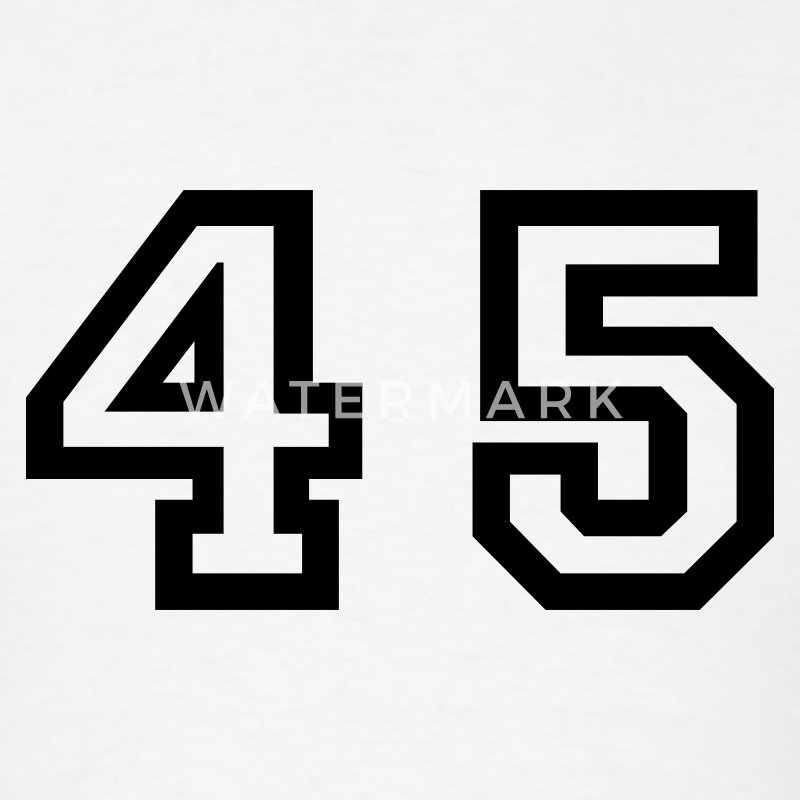 White Number - 45 - Forty Five T-Shirts - Men's T-Shirt
