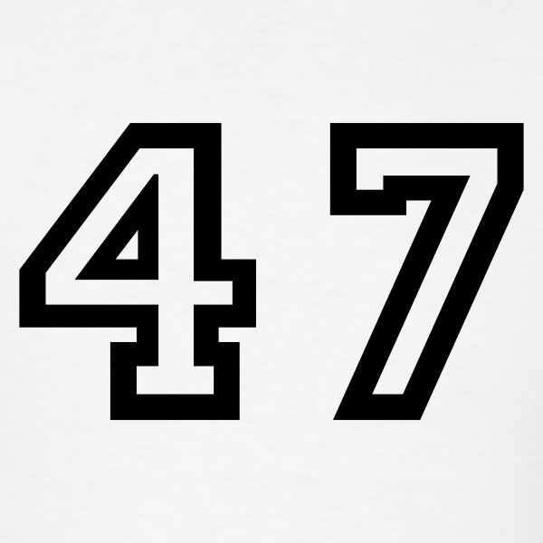 Number - 47 - Forty Seven T-Shirts - Men's T-Shirt