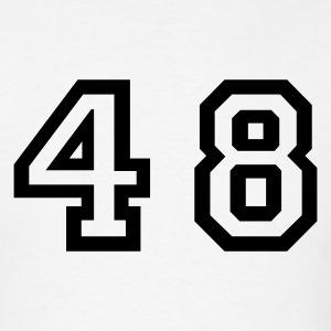 White Number - 48 - Forty Eight T-Shirts - Men's T-Shirt