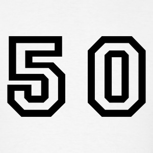 White Number - 50 - Fifty T-Shirts - Men's T-Shirt