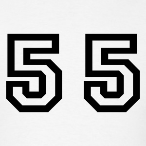 White Number - 55 - Fifty Five T-Shirts - Men's T-Shirt