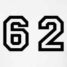 White Number - 62 - Sixty Two T-Shirts