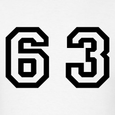 White Number - 63 - Sixty Three T-Shirts
