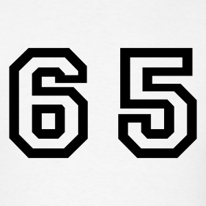 White Number - 65 - Sixty Five T-Shirts - Men's T-Shirt