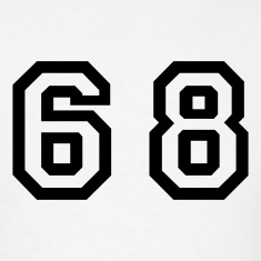 White Number - 68 - Sixty Eight T-Shirts