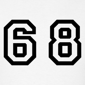 White Number - 68 - Sixty Eight T-Shirts - Men's T-Shirt