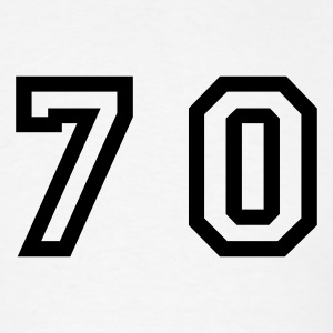 White Number - 70 - Seventy T-Shirts - Men's T-Shirt
