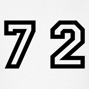 White Number - 72 - Seventy Two T-Shirts - Men's T-Shirt