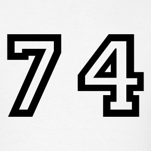 White Number - 74 - Seventy Four T-Shirts - Men's T-Shirt