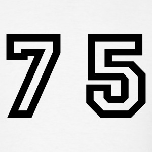 White Number - 75 - Seventy Five T-Shirts - Men's T-Shirt