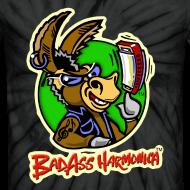 Design ~ BadAss Harmonica tie-dye t-shirt (black)