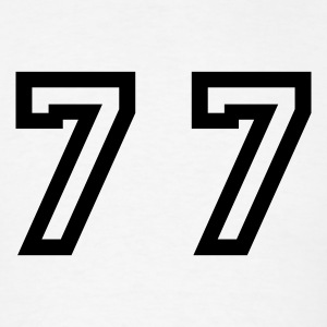 White Number - 77 - Seventy Seven T-Shirts - Men's T-Shirt