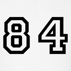White Number - 84 - Eighty Four T-Shirts - Men's T-Shirt