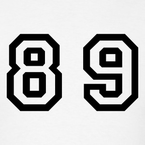 White Number - 89 - Eighty Nine T-Shirts - Men's T-Shirt