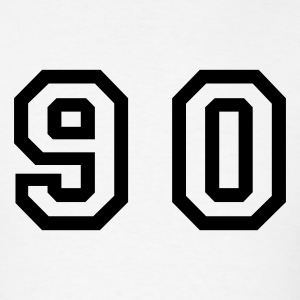 White Number - 90 - Ninety T-Shirts - Men's T-Shirt