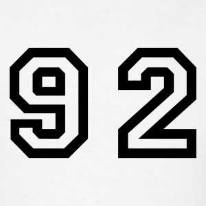 White Number - 92 - Ninety Two T-Shirts - Men's T-Shirt