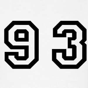 White Number - 93 - Ninety Three T-Shirts - Men's T-Shirt