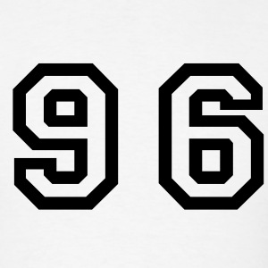 White Number - 96 - Ninety Six T-Shirts - Men's T-Shirt