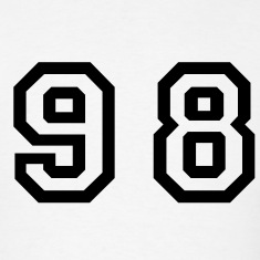 White Number - 98 - Ninety Eight T-Shirts