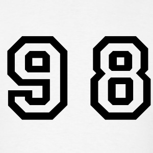 White Number - 98 - Ninety Eight T-Shirts - Men's T-Shirt