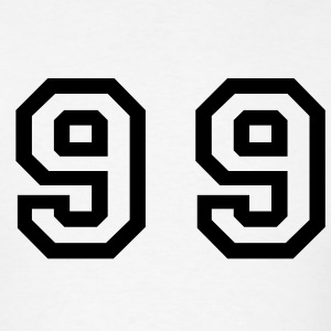 White Number - 99 - Ninety Nine T-Shirts - Men's T-Shirt