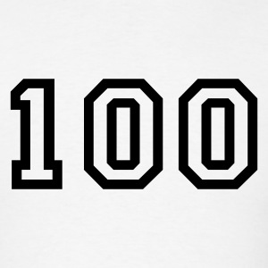 White Number - 100 - One Hundred T-Shirts - Men's T-Shirt