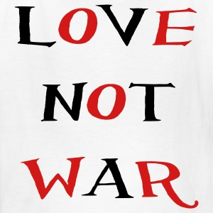 White love not war Kids' Shirts - Kids' T-Shirt