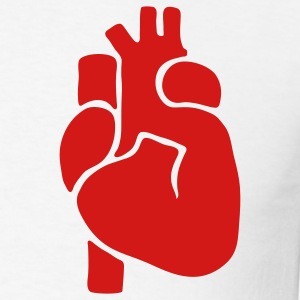 Heart Real 1c - Men's T-Shirt