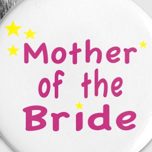 White Star Mother of the Bride Buttons - Small Buttons
