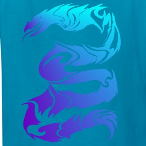 Sharp Blue Dragon - Kids' T-Shirt