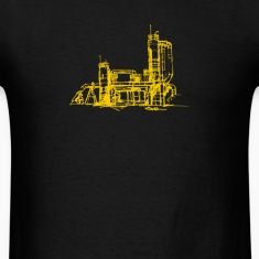 Men's gas works/yellow print