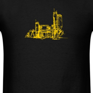 Men's gas works/yellow print - Men's T-Shirt