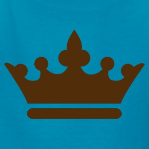 Orange simple royalty prince princess king queen crown Kids' Shirts - Kids' T-Shirt