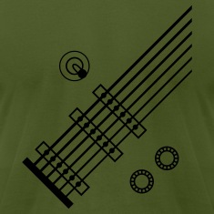 Olive 6 String Guitar T-Shirts